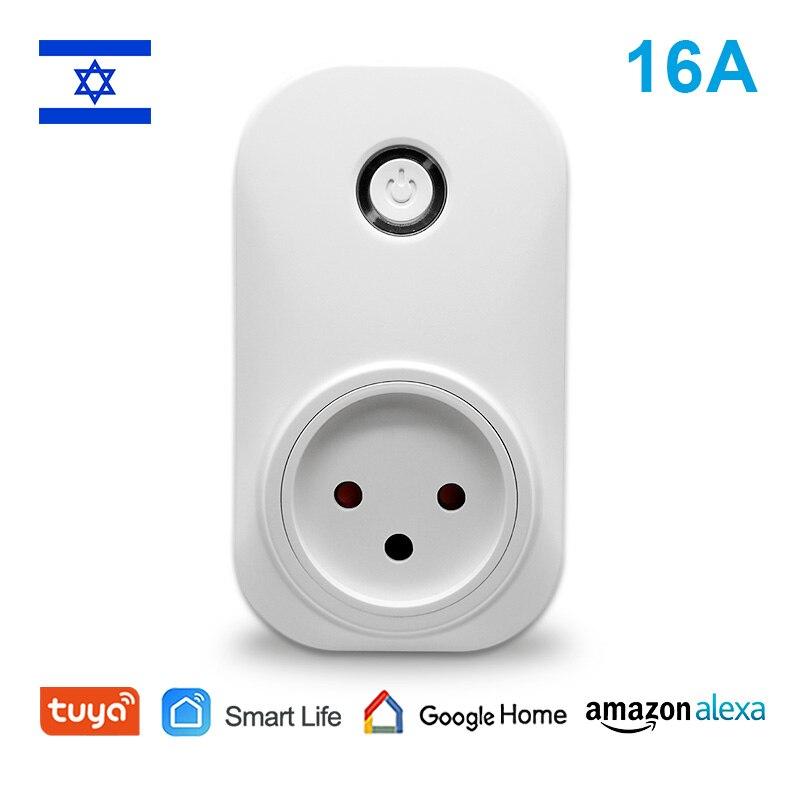 Tuya vie intelligente WiFi chauffe-eau interrupteur chaudière commutateurs israël Type WiFi prise de courant Alexa écho Google accueil App minuterie