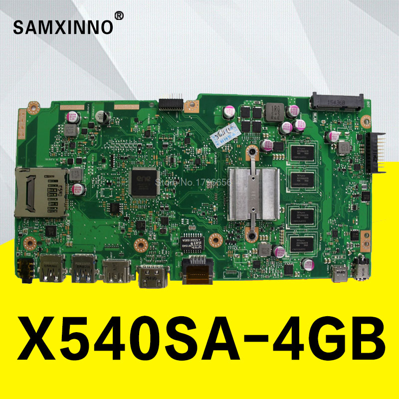 цена X540SA Laptop motherboard para ASUS VivoBook X540SA X540S X540 F540S Teste mainboard original 4g RAM N3050/N3150 /N3050 CPU