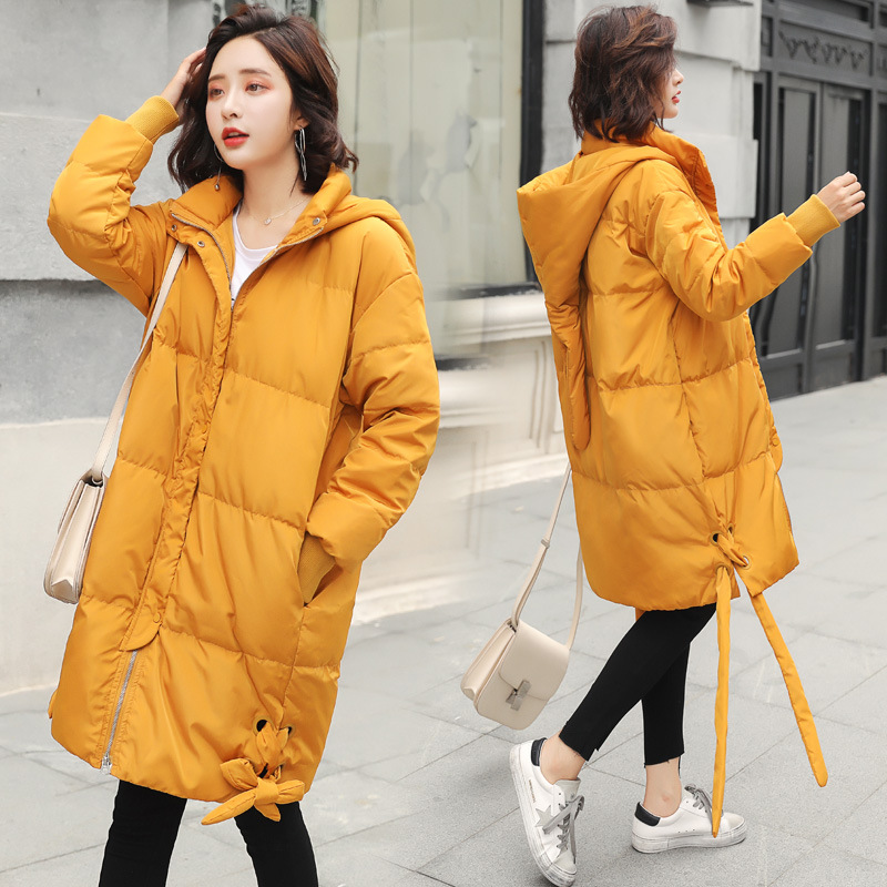 Winter Loose Hood Long   Down     Coat   Jacket Thick Warm Women Casaco Feminino Abrigos Mujer Invierno Cotton Padded Wadded Parkas