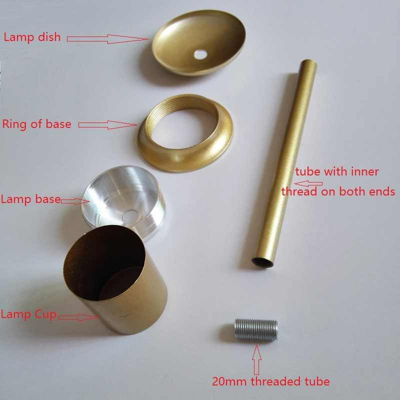 Лампа блюдо/лампа чашка/лампа база Соединительная труба для молекулярной подвесной светильник DIY осветительное оборудование аксессуары