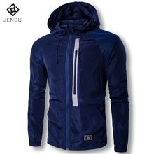 2017 New Men Spring Jackets and Coats Men's Casual Fashion Slim Fit Hooded Jackets Zipper Windproof Waterproof Tracksuits Jacket