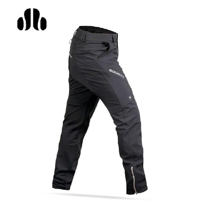 LANCE SOBIKE Inverno Pantaloni Fleece Vento Termico Pantaloni di Guida del Ciclista-Ling Feng Stile di Svago Antivento Tenere In Caldo Nero