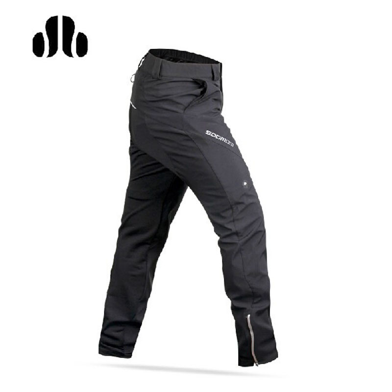 LANCE SOBIKE Winter Riding Bike Pants Fleece Thermal Wind Pants - Ling Feng Leisure Style Windproof Keep Warm Black lance hiking winter fleece thermal pants windproof leisure style climbing cycing bike outdoor sport pant men big size cloth