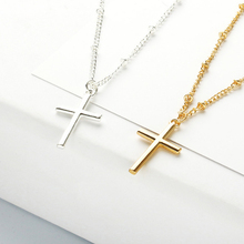 Trendy cross pendant choker necklace for women fashion summer beach metal silver gold chain jewelry gift girls alloy necklace trendy metal alloy choker necklace for women girls geometric pendant short necklace chain female hollow fashion summer jewelry