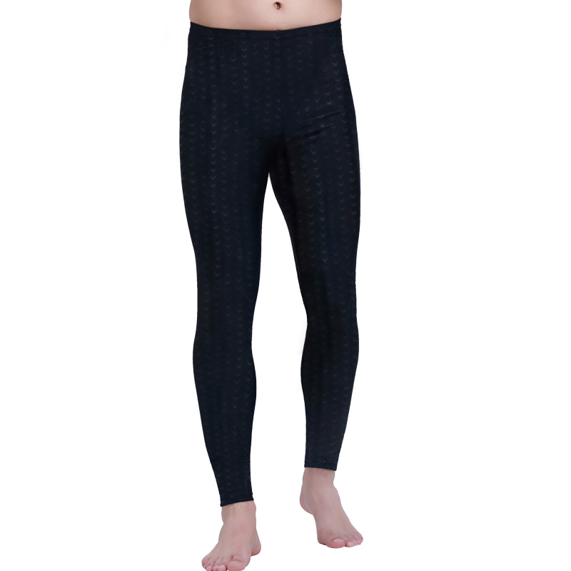 SBART Men Rash Guard Tight Pant Leggings Anti-UV Lycra Rashguard Full Length Black Solid Surf Pants Swim Quick Dry Fitness 4XL