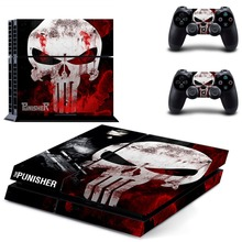 The Punisher PS4 Skin Sticker for Sony Playstation 4 Console System and PS4 Two Controller Skins