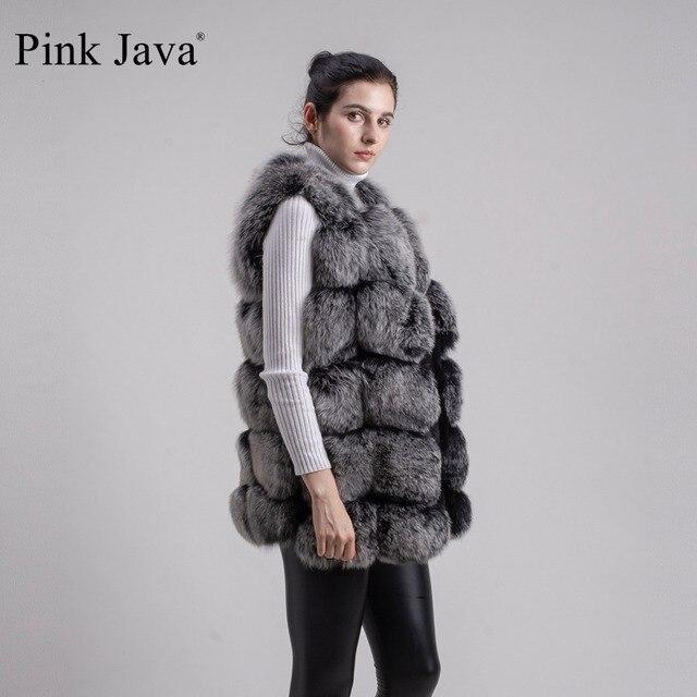 Pink Java QC8046 BIG SALE FREE SHIPPING  hot new  natural fox fur long vest  real fox fur gilet winter high quality women fox 2