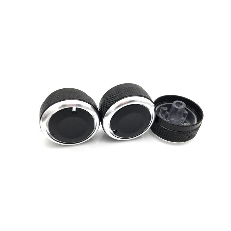 Для Hyundai Accent 3 шт./компл. ручка кондиционера из алюминиевого сплава Ручка переменного тока кнопка управления теплом аксессуары