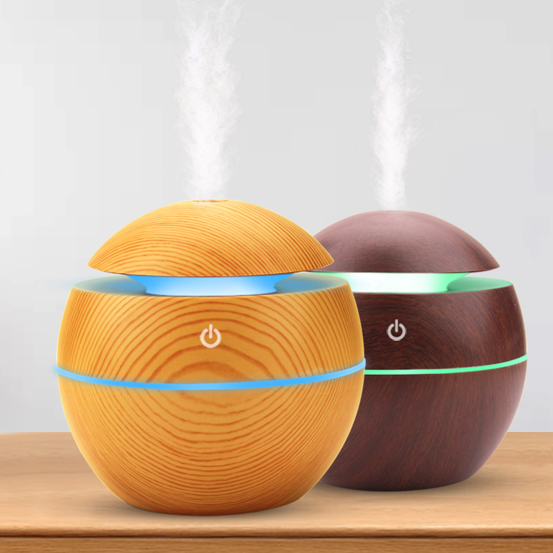 USB Aroma Humidifier Ultrasonic Cool Mist Humidifier Air Purifier 7 Color Change LED Night Light For Office Home Car