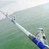 LEO глубоководная металлическая приманка муха Карп лодка удочки 1,8 м 2,1 м углеродная железная жердь