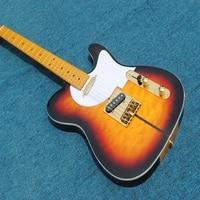 The wholesale custom shop 3TS the dog head clouds stripe elecrtric guitar peekaboo Standard Electric Guitar Maple Fretboard