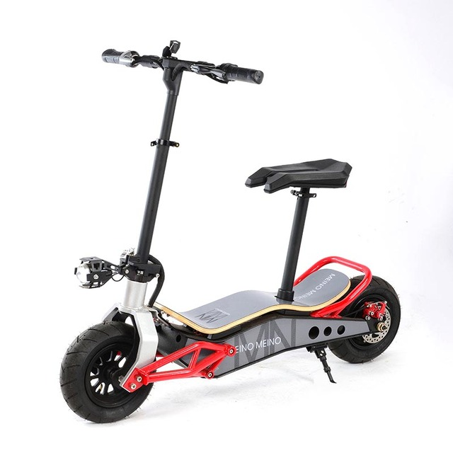 Stand Up Electric Scooter >> Us 692 55 5 Off Fat Tire Suv Stand Up And Seat Powerful Electric Scooter Mobility Transporter Chariot 500w 12 Or 16ah Lithium Battery In Self