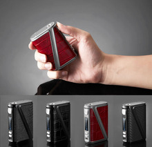 New Arrive 233W Warlock Z-BOX Mechanical Mod Box 233W TC Box Mod Leather Design Big Power Electronic Cigarette Mod