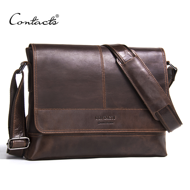 CONTACT'S 2018 New Arrival Men's Messenger Bags For Men Cross Body Bag Men's Bag High Quality Shoulder Bags Business Casual