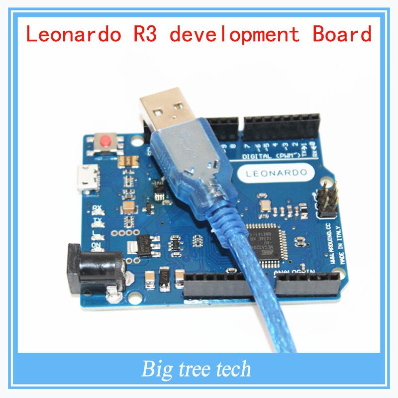 Prix pour 5 pcs Leonardo R3 conseil de développement Du Conseil + Câble USB compatible pour arduino pour livraison gratuite