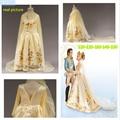 Real figura filme dress.2015 europeus e americanos cinderela princesa cinderela vestido, Cosplay fantasias de carnaval