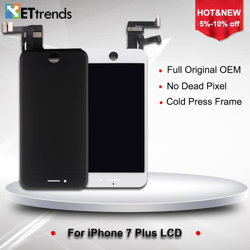 3PCS/LOT Original A+++ LCD Display for iPhone 7 plus LCD Screen Digitizer Touch Glass Screen Assembly Replacement DHL Free Ship