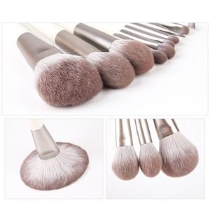 Image 3 - Zoreya Brand Soft Synthetic Hair Eye Shadow Brush White Handle Blending Blush Lip Powder Highlighter Makeup Brushes Set 10pcs