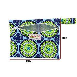 Image 5 - Ohbabyka Riutilizzabile Lavabile Wet Borsa Per Sanitari Pad Mestruale Sanitario Zia Bag Mama Tovagliolo Sanitario del Sacchetto del Rilievo di Dropshipping 6 Colori
