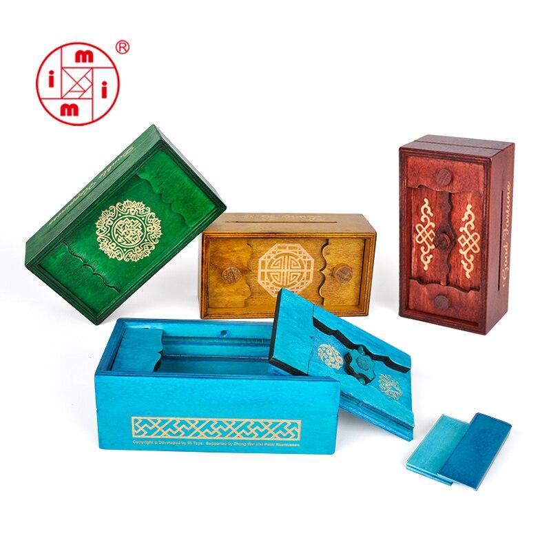 Compartimento Secreto MITOYS Caixa do Enigma brinquedos de madeira para crianças jogo de lógica Cérebro Teaser enigma de madeira Brinquedos Educativos para crianças