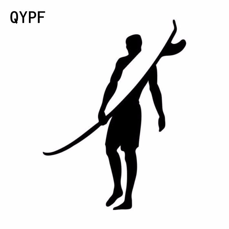 QYPF 15,2 см * 11,5 см креативные спортивные виниловые автомобильные наклейки для серфинга аксессуары