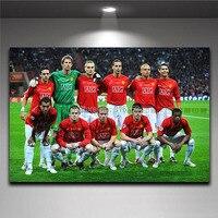 English Premiership Man Utd Cristiano Ronaldo Canvas Printing Poster Boy S Room Wall Decor Soccer Painting