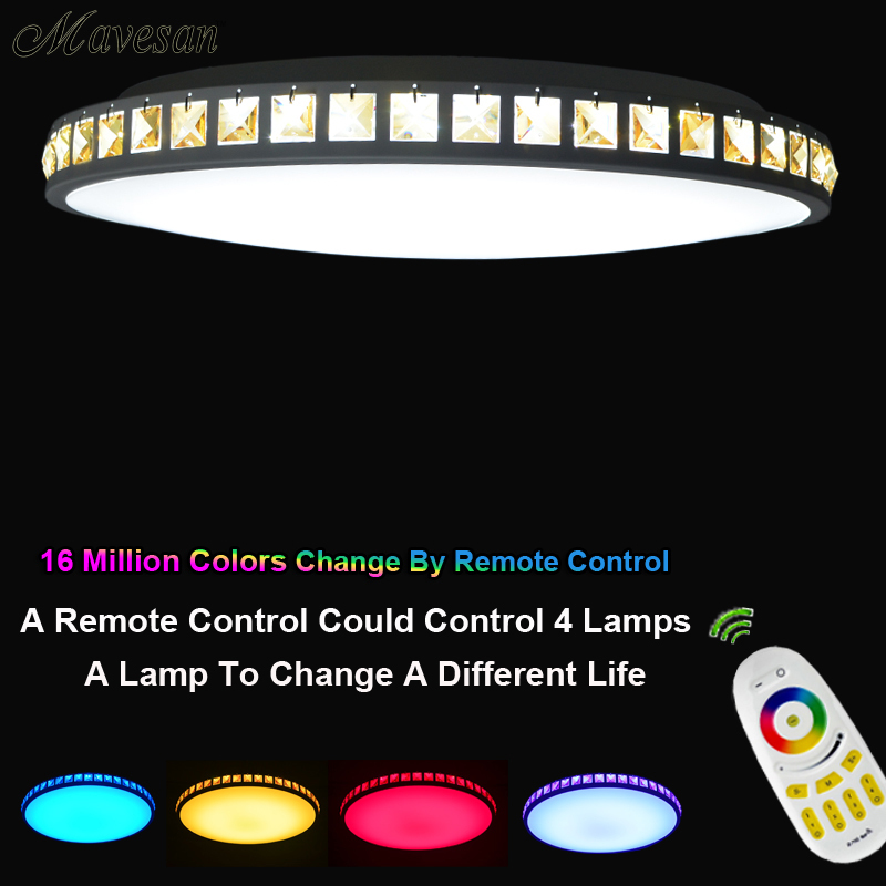 Hot Selling drawing room Led Lamp ceiling with Remote RGB Smart around LED Lamp shade for