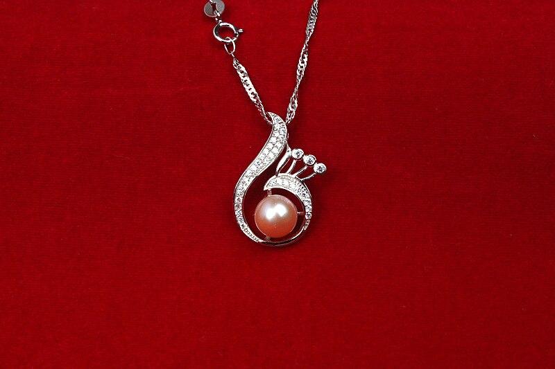 GUP46 нежные женские ювелирные изделия, Феникс рот с жемчужной подвеской, ожерелье стерлингового серебра 925 для Изящные леди