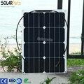 Solarparts 1x30 W Гибкая Фотоэлектрические Солнечные Панели зарядное устройство комплекты системы солнечных батарей высокая эффективность 12 В DIY комплект RV/Marine