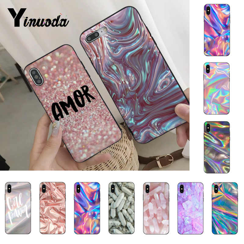 Yinuoda Wave Marble color Originalblack tpu Phone case cover  for iPhone 6S 6plus 7 7plus 8 8Plus X Xs Xr XsMax 5 5S 5C SE