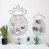 DIY Nordic style Pineapple Wall Grid pictures decoration backdrop photo wall girls room decor baby decoration room hanging decor