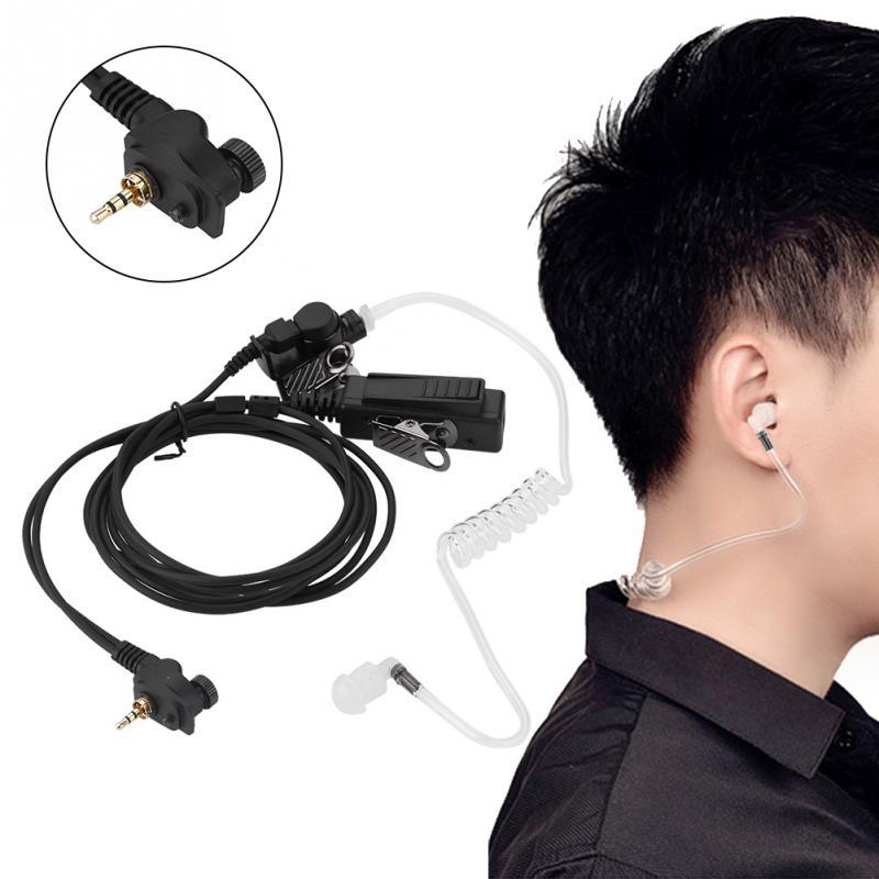 Communication Equipments 10xfbi Style Acoustic Covert Earbud Headset Earpiece Ptt For Motorola 2-way Radio Mr350 T9500 Mh230 Em1000 Tlkr T6 T7 T8 T9 T60