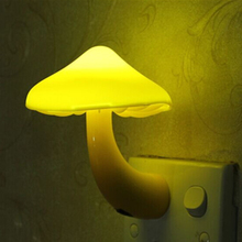 Light-controlled Sensor Mushroom LED Night Light Room Decors Gift for Kids Child Baby Wall Socket Lights Lamps EU US Plug