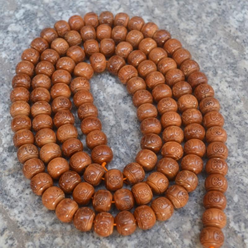 Vente en gros naturel Bodhi Bracelet petit roi Kong Bodhi 108 bouddha nuage motif perle Original bricolage hommes cuisinier main chaîne collier - 3