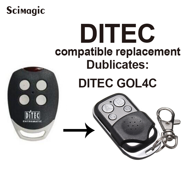 DITEC GOL4C Remote Control High Quality Copy 433.92mhz Remote Control For Garage Door Gate Remote Control Duplicator