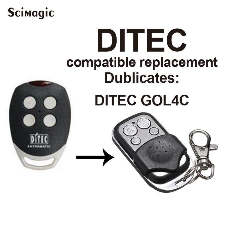 DITEC GOL4C Remote Control High Quality Copy 433.92mhz Remote Control For Garage Door Gate Remote Control Duplicator