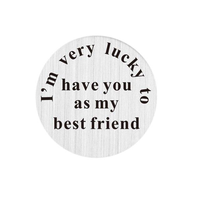 Rvs Ik Ben Zeer Lucky Om U Als Mijn Beste Vriend Drijvende Medaillon