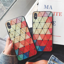 Diamond shape phone funda cover for For Apple iPhone X XS MAX 8 plus 7 6s XR Cases