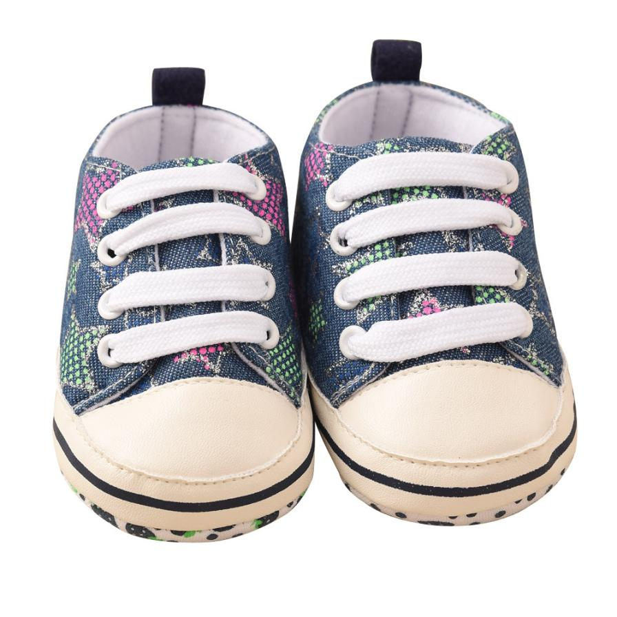 TELOTUNY 2018 Toddler Baby Colorful Stars Printing Bandage Canvas Shoes Newborn Shoes For Baby Girls Boys Shoes 0425