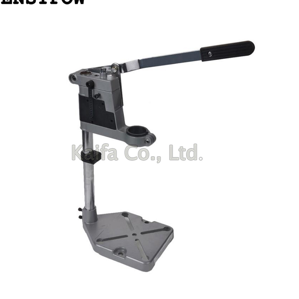 цена на 1pcs Double-head Electric Drill Holding Holder Bracket Grinder Rack Stand Clamp accessories for Woodworking