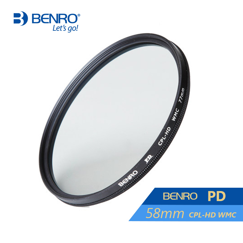 Benro 58mm PD CPL Filter PD CPL-HD WMC Filters 58mm Waterproof Anti-oil Anti-scratch Circular Polarizer Filter Free Shipping benro 58mm cpl filter shd cpl hd ulca