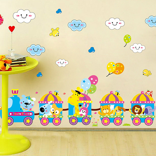 PVC Removable decorative wall stickers Preschool boys and girls ...