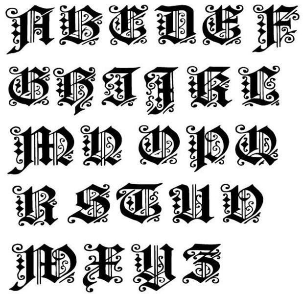 cabeça alphets 26 Letras Curlicue vedação DIY