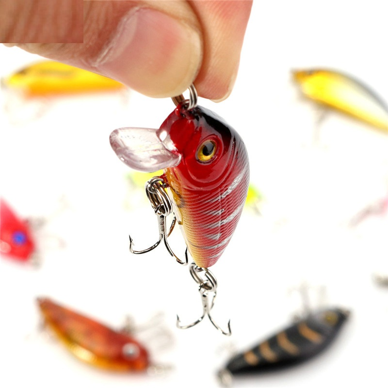 Bobing 1 pack of 8pcs/lot fishing lures 5CM/3.6G carp Artificial bait wobbler fish minnow bass lure crankbait trout tackle hook 10pcs lot 15 5cm 15 3g wobbler fishing lure big minnow crankbait peche bass trolling artificial bait pike carp kosadaka