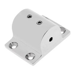 Image 5 - Accesorios de barandilla de acero inoxidable 316, accesorios de barandilla de 90 grados, soporte rectangular, soporte marino para tubería de 25mm