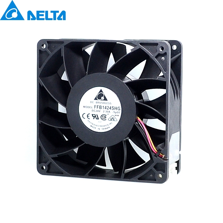 delta New 14050 24V2.3A FFB1424SHG super wind 14cm dual ball bearing cooling fan 140*140*50mm original delta afb0912shf 9032 9cm 12v 0 90a dual ball bearing cooling fan