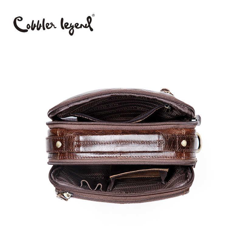 Bolso de negocios de cuero genuino para hombres de la marca Cobbler Legend, bolso de hombro para hombres 2019, bolsos de hombre de alta calidad, bolsos de mano para hombres, bolsos Beg