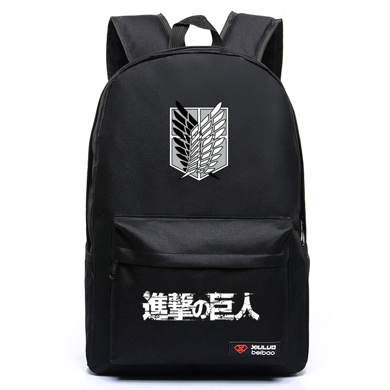 2017new Attack on Titan Cosplay Anime Backpack Candy Color Leisure Backpacks for teenagers mochila Unisex for Teenage Girls boys 2017new fashion unisex surgical caps 100