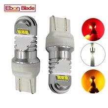 2x LED 車のライト T20 7443 W21/5 ワット 7440 W21W WY21W XBD 30 ワット自動車オートライトブレーキターン信号 DRL 電球ランプ白赤アンバー