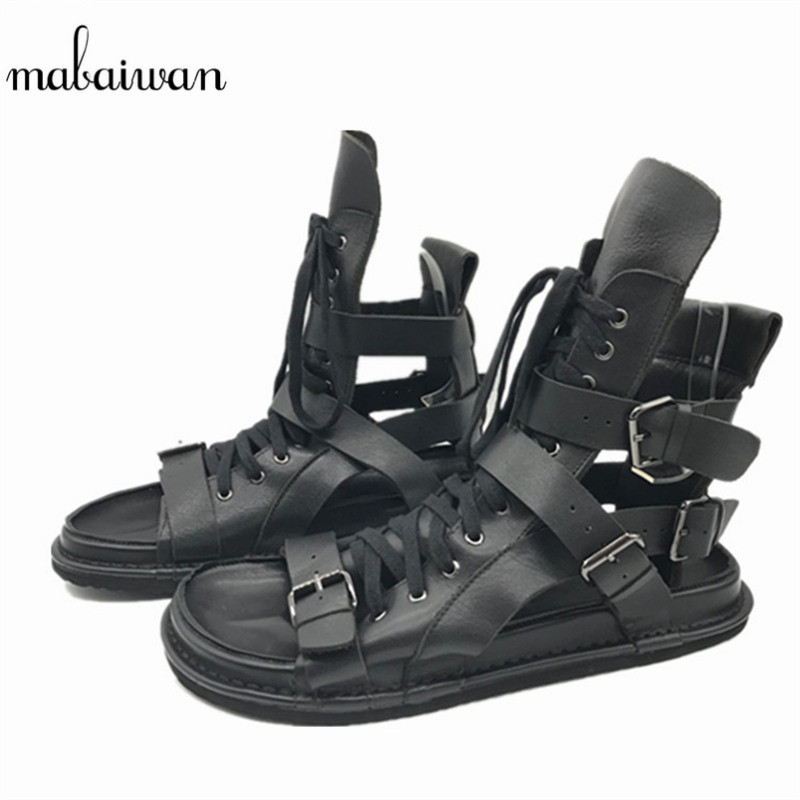 Mabaiwan Fashion Summer Style Men Sandals Casual Shoes Roman Gladiator Black Mans Footwear Flats Beach Shoes Sandalias Hombres mabaiwan fashion summer style men sandals casual shoes roman gladiator black mans footwear flats beach shoes sandalias hombres